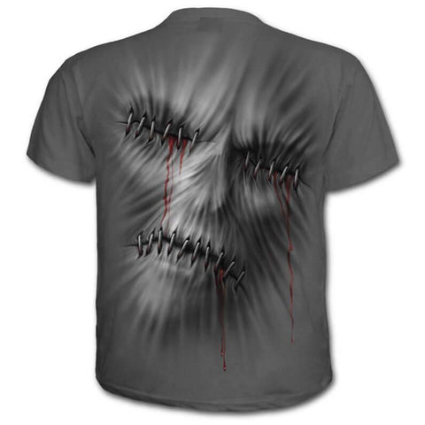 Halloween Novelty 3 D Print Skulls Men Funny T-shirt Plus Size 4 XL - Fashion mi style