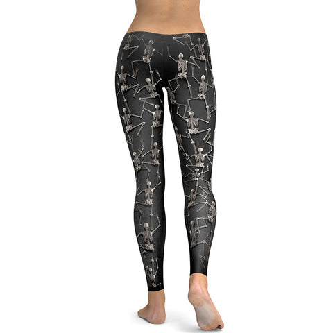 New Halloween Skull Skeleton Funny Print Pencil Pants Push Up Casual Brand Leggings Workout - Fashion mi style