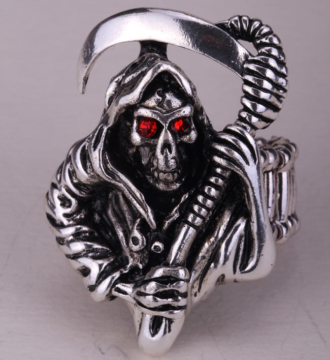 New Skeleton skull stretch biker Rings For Halloween Party Gifts - Fashion mi style