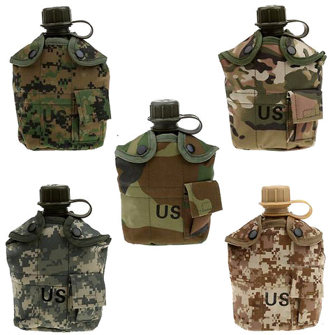 Desert Camo Military Canteen Kit
