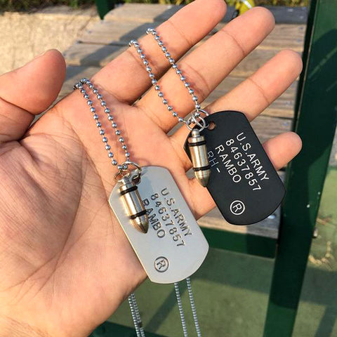 FREE - Military Army Bullet Necklace