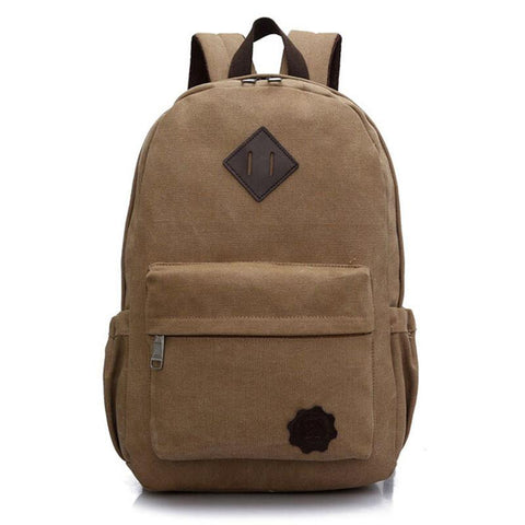 Canvas Backpack - Brown