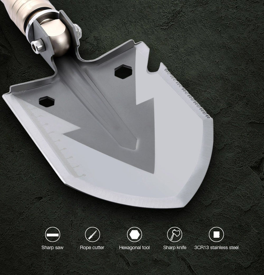 OutLife™ 15-IN-1 Heavy Duty Multi-Function Survival Shovel