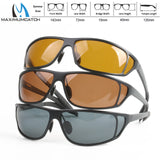 Maximumcatch Titanium Metal Frame Fly Fishing Polarized Sunglasses Brown Yellow And Gray To Choose Fishing Sunglasses