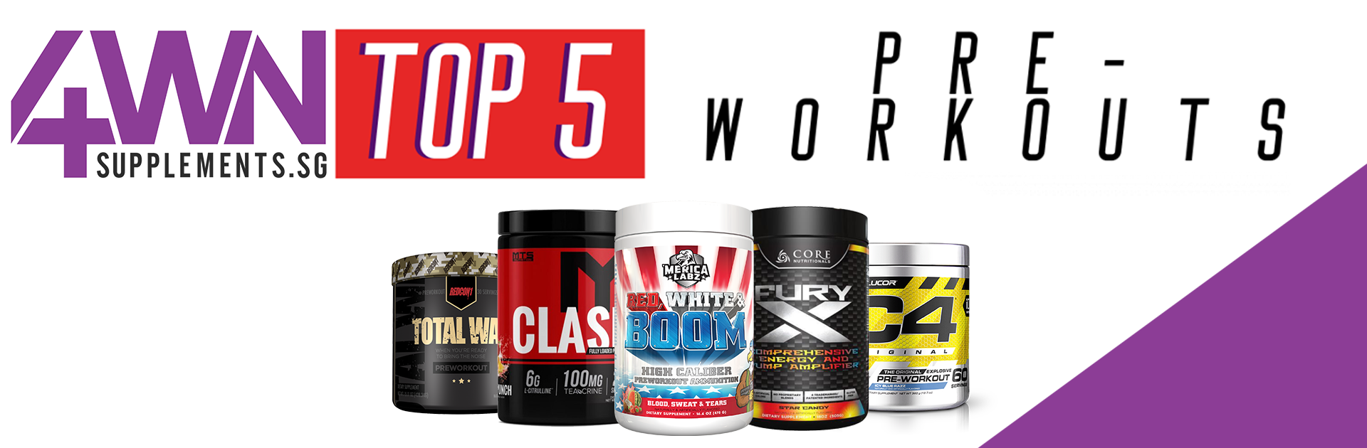 top 5 pre workouts 4WN Supplements