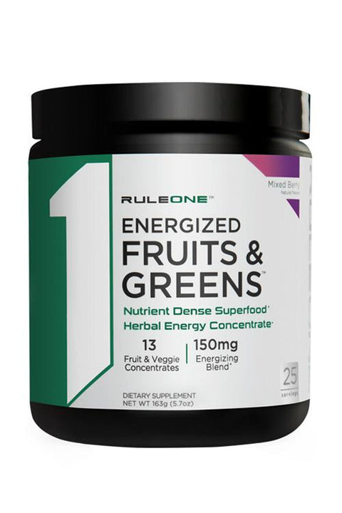 Rule 1 Energised Fruits and Greens 25 Serves