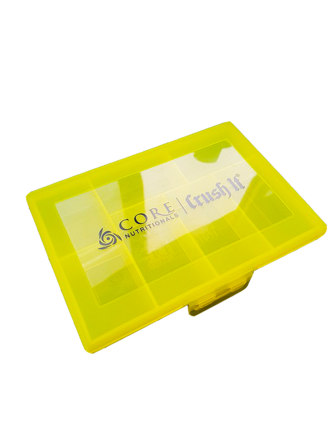 Core Nutritionals Yellow Pill Box