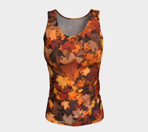 'Autumn Leaves' LONG Tank Tops