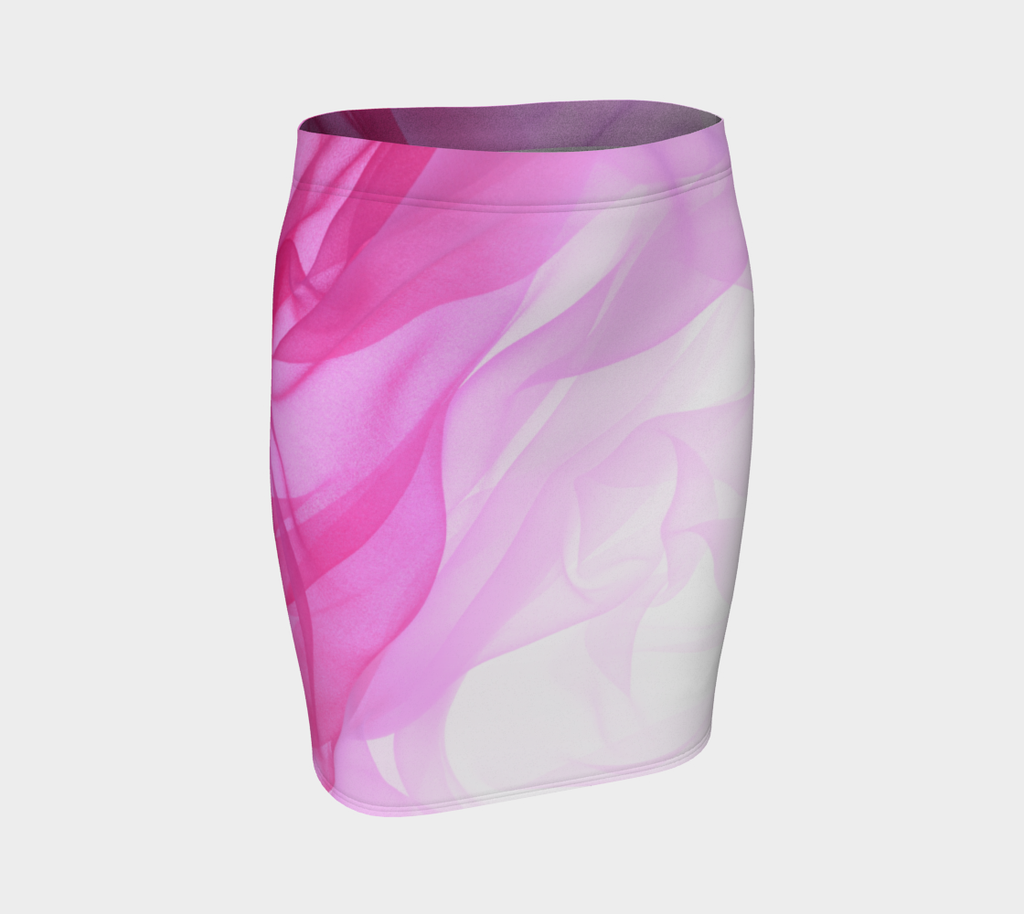 'Pink Tulle Pattern' Fitted Skirt