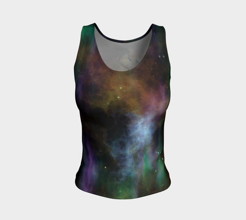 'Cosmic Planet' Fitted Regular Tank Top