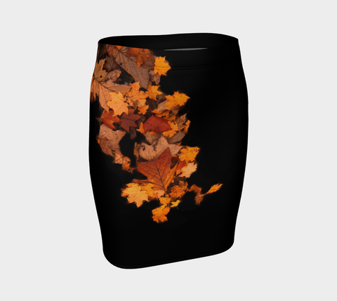'Autumn Leaves' Fitted Skirt