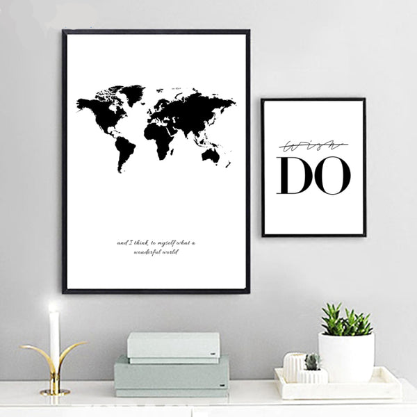 World Map Canvas Art Prints