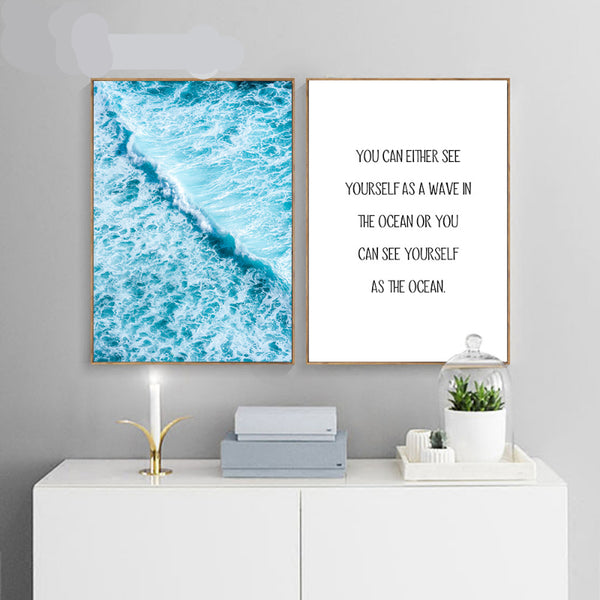 Blue Ocean Waves Canvas Posters