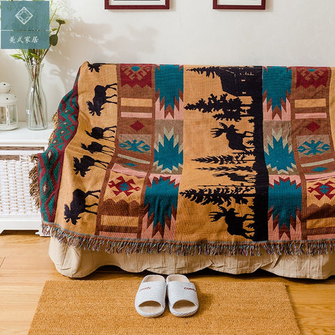American Deer Travel Blanket