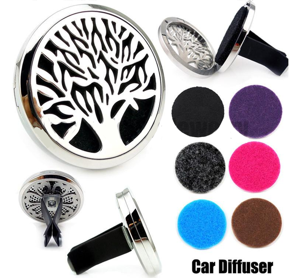 Aromatherapy Car Diffuser Silver Tree of Life
