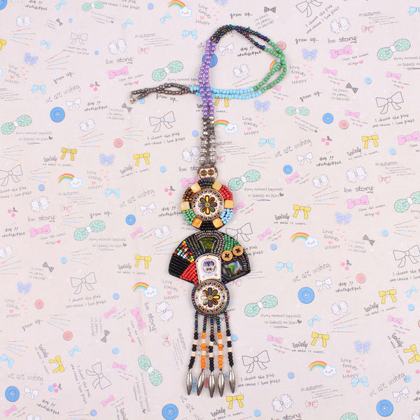 Tibetan Totem Bead & Tassel Necklaces