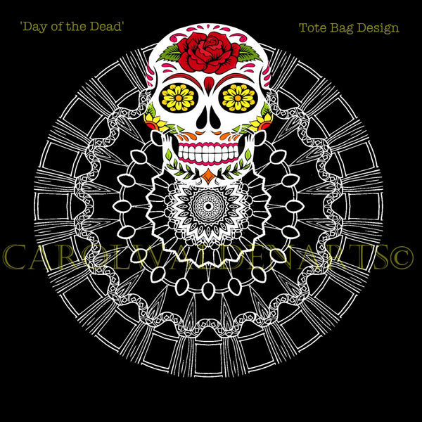 Day of the Dead Tote Bag Design