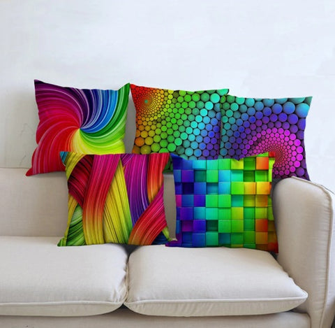 Psychedelic Geometric 3D Pillow Cases