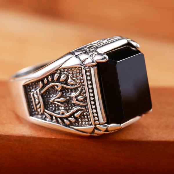 925 Silver Black Ring