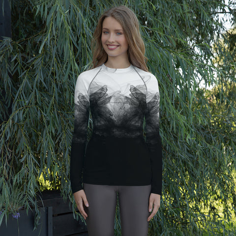 Women's Tulle Print Rash Guard