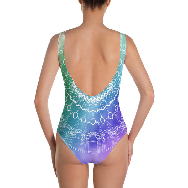 'Rainbow Fractal' One-piece Swimsuit