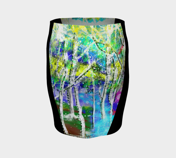 'Forest Fantasy' Fitted Skirt