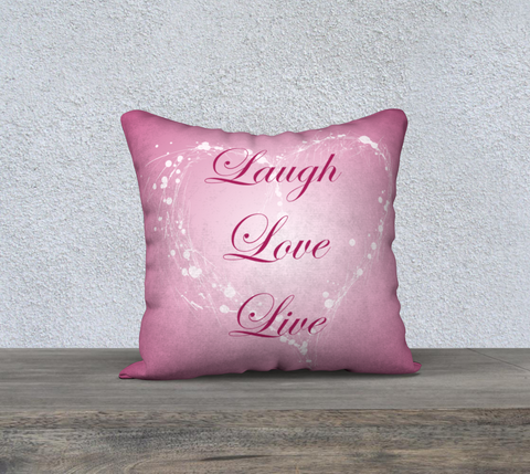 "'Pink Rose' Laugh Love Live Cushion Covers 18"" x 18"""