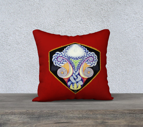 "'Red Celtic Design' Cushion Covers 18""x18"""