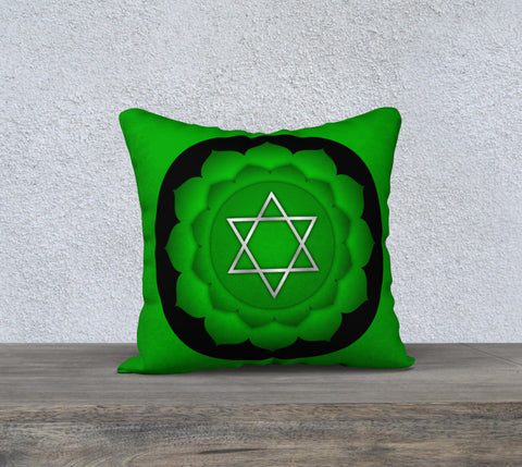 "'Heart Chakra' Cushion Covers 18"" x 18"""