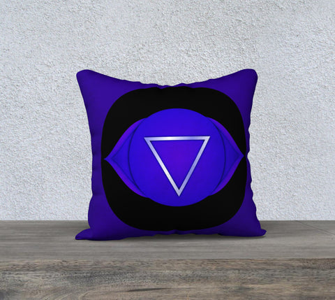 "'Third Eye' Chakra Cushion Covers 18"" x 18"""
