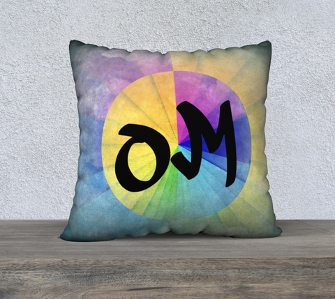 "'OM' Cushion Covers 22"" x 22"""