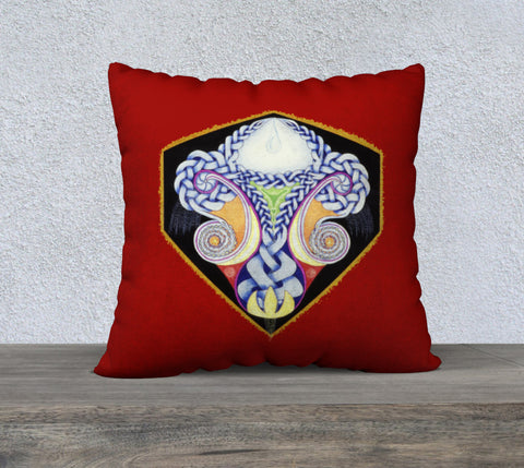 "'Red Celtic Design' Cushion Cover 22"" x 22"""