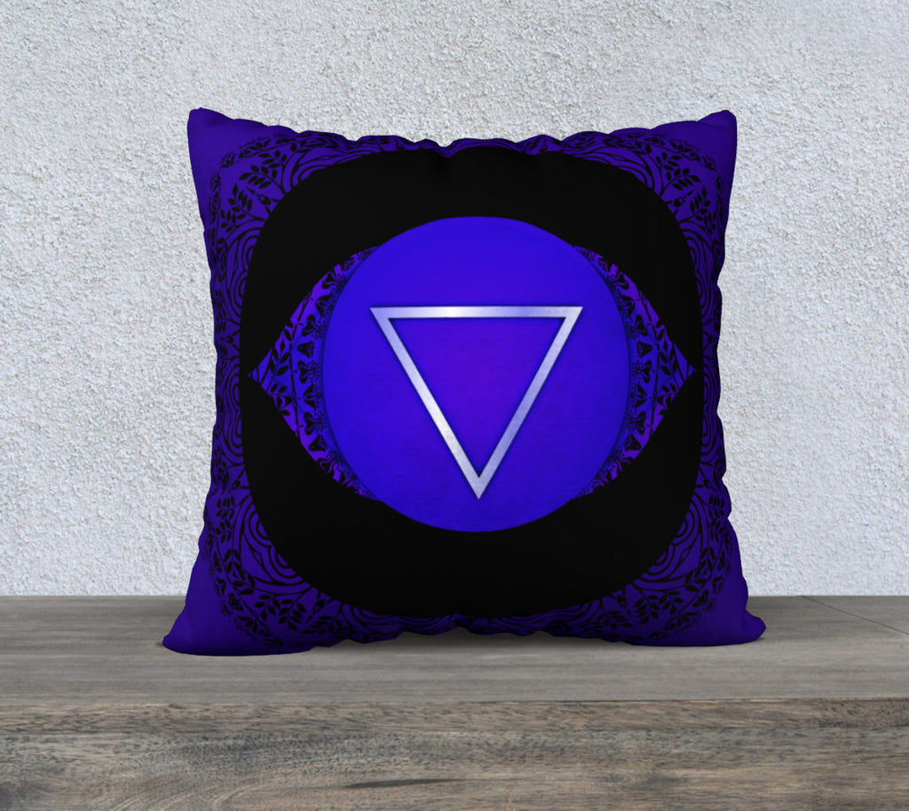 "'Third Eye' Chakra Cushion Covers 22"" x 22"""