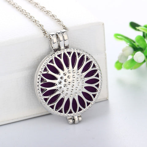 Sunflower 35mm Aromatherapy Essential Oil Diffuser Locket Necklace