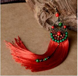Artisan-made Drop Fringe Earrings