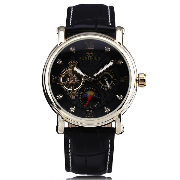 Unisex Watch Automatic Sun-Moon Phase