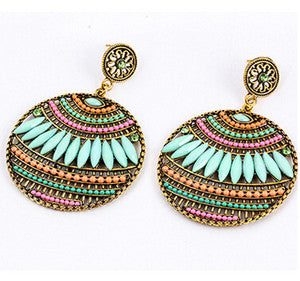 Colorful Bohemian Earrings Round