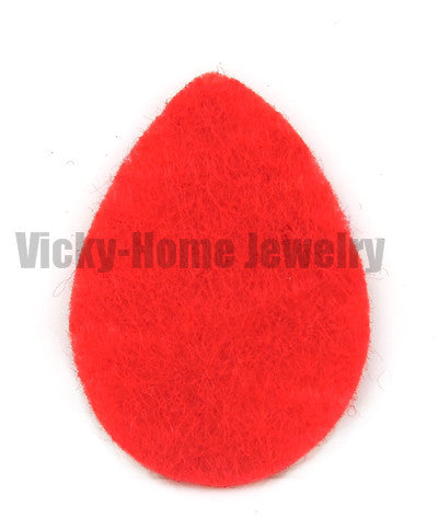 Aromatherapy Replacement Pads Oil Drop Shape 8 Colors