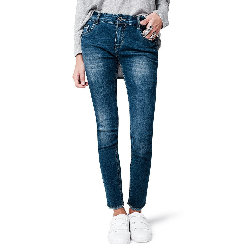 High Rise Skinny Denim, Medium Wash - fifthandmaple