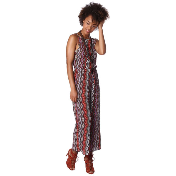 Rib Jumpsuit, Tribal Print - fifthandmaple