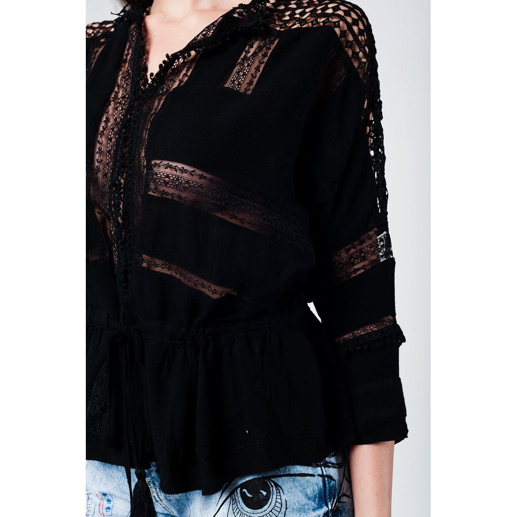 Black Bohemian Top - fifthandmaple