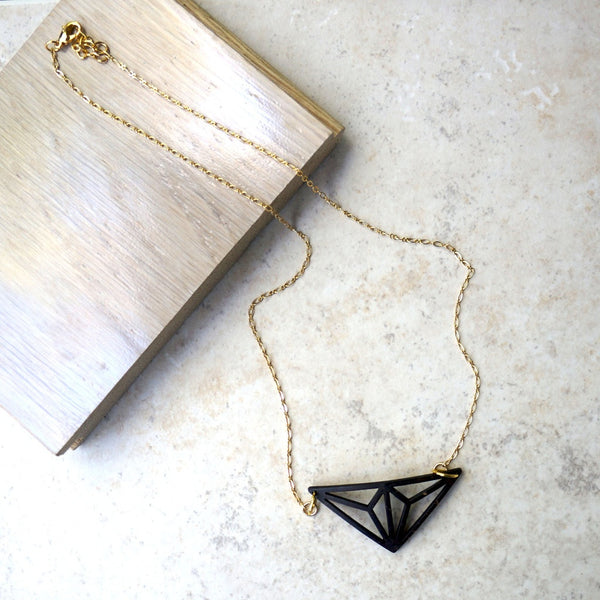 Geo Tri Delta Necklace - fifthandmaple