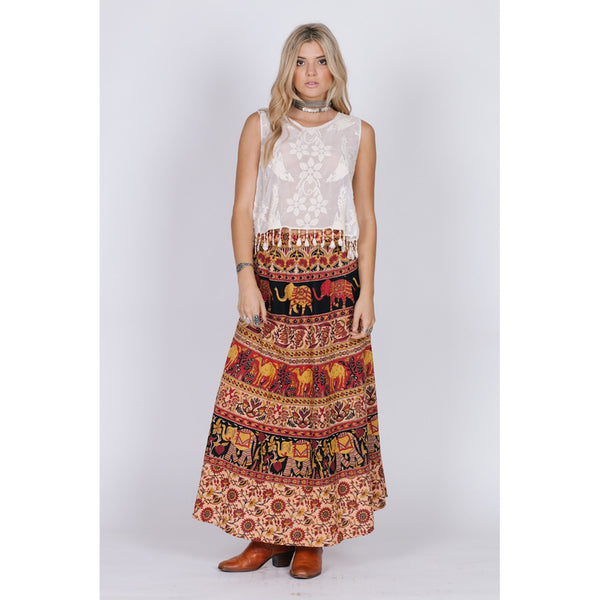 Anaya Maxi Skirt - fifthandmaple