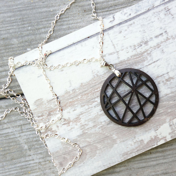 Coconut Sphere Necklace - fifthandmaple