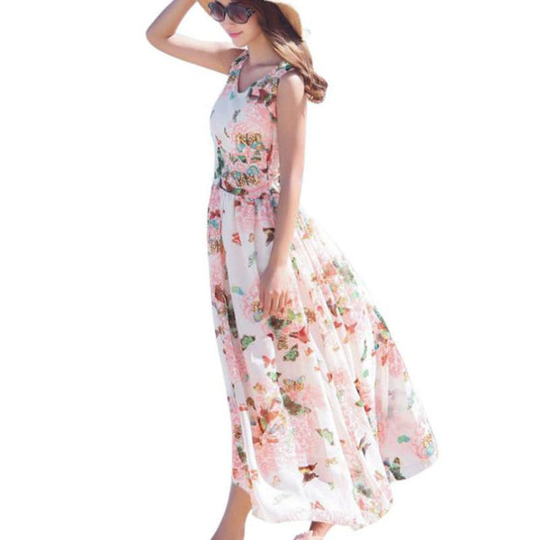 Dress - Floral Summer Beach Dress