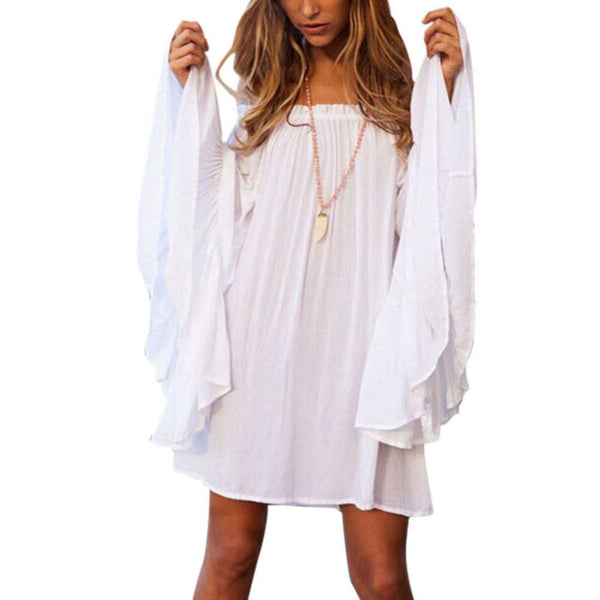 Dress - Loose Flare Sleeve Dress
