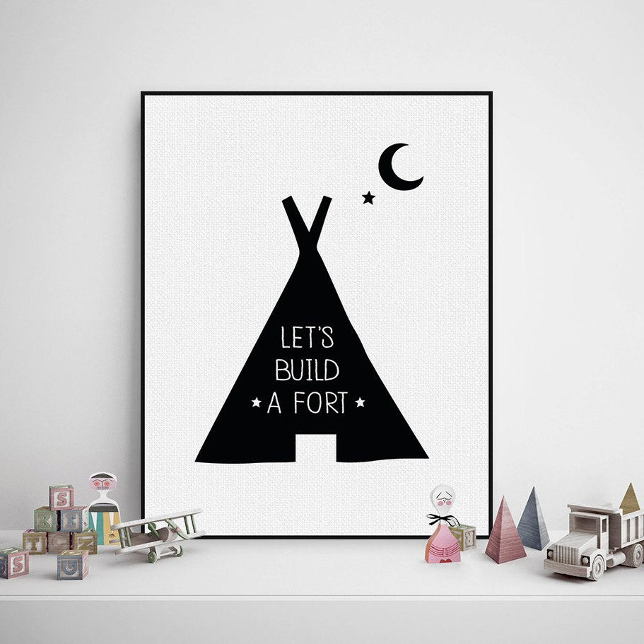 Print - Let's Build A Fort Print