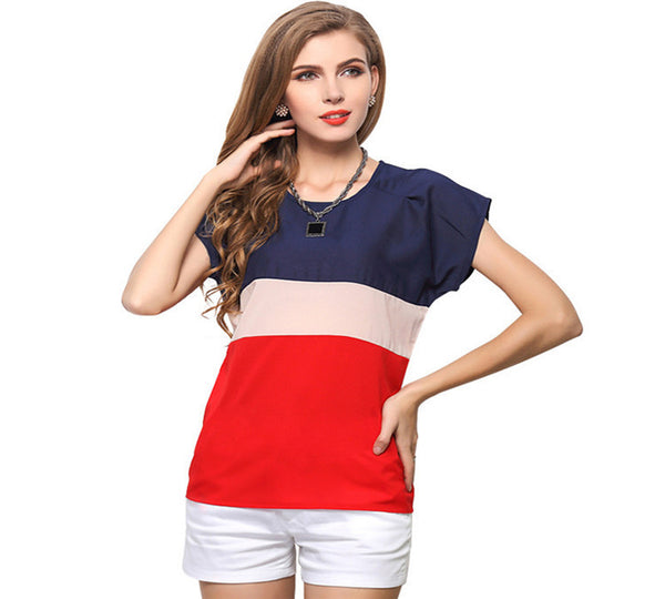 Short Sleeve Chiffon Top (Up to 3XL)