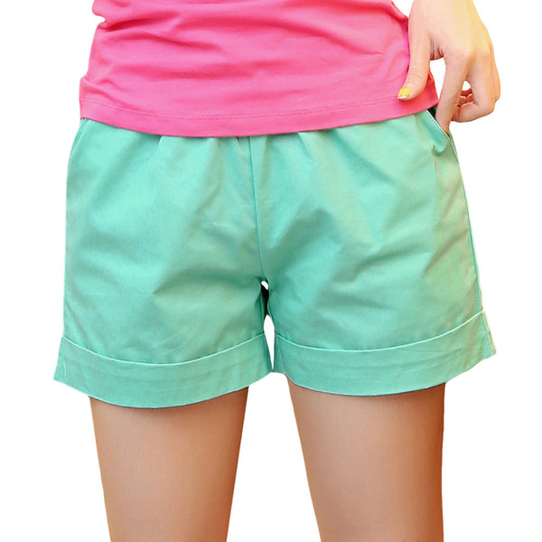 Elastic Waist Summer Shorts - fifthandmaple