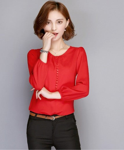 Autumn Chiffon Blouse (Sizes up to 3xl) - fifthandmaple